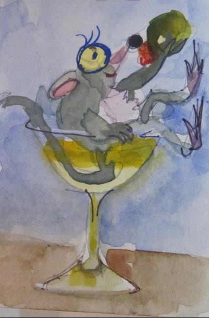 Art: Martini Mouse by Artist Delilah Smith