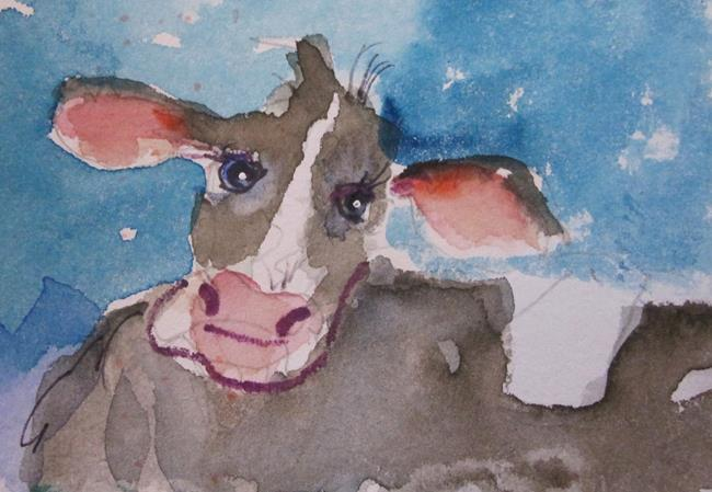 Art: Big Eared Cow by Artist Delilah Smith