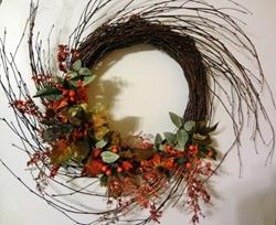 Art: Swirl Wreath by Artist Vicky Helms