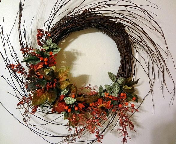 Art: Swirl Wreath by Artist Vicky Helms