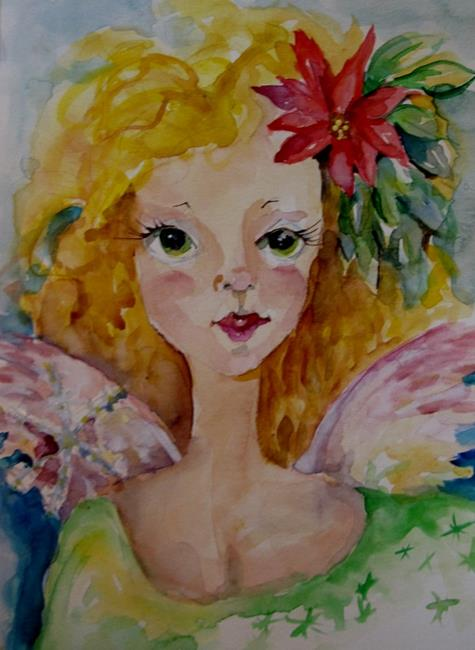 Art: Christmas Angel by Artist Delilah Smith