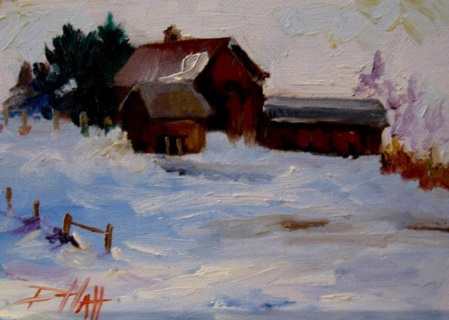 Art: A White Christmas by Artist Delilah Smith