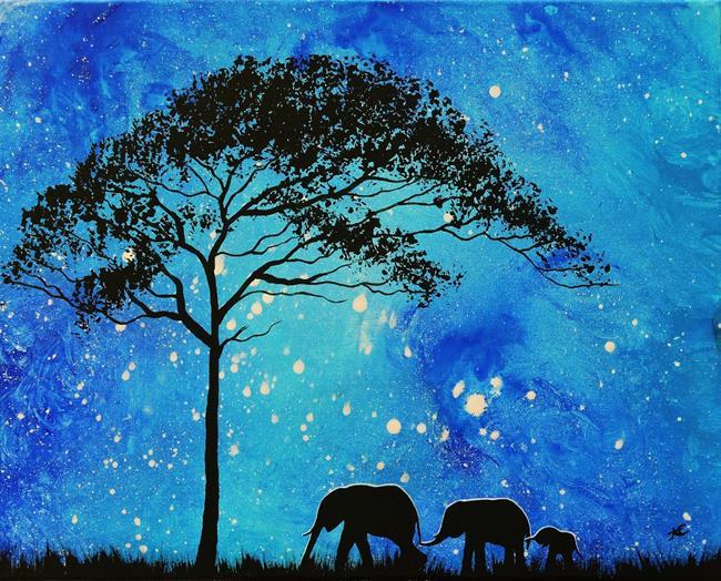 Art: Evening Stroll (sold) by Artist Amber Elizabeth Lamoreaux