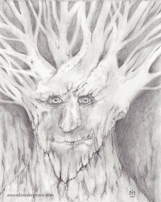 Art: Shepherd of the Forest by Artist Amanda Makepeace