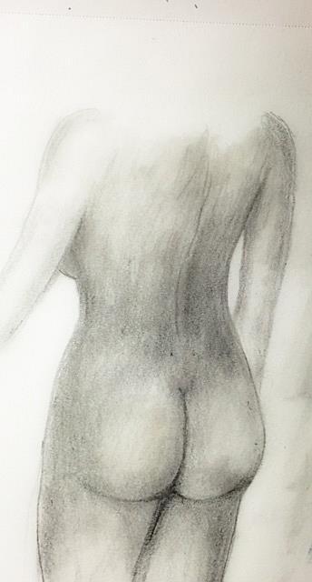 Art: Female Nude by Artist Ulrike 'Ricky' Martin