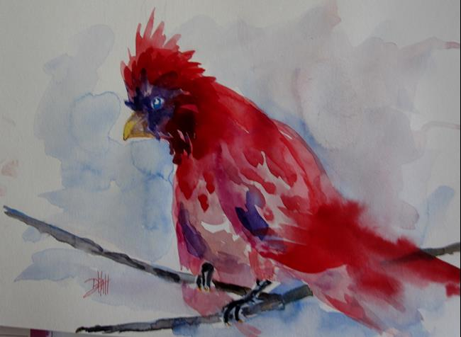 Art: Winter Cardinal by Artist Delilah Smith