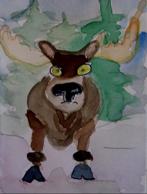Art: Mr Moose by Artist Delilah Smith
