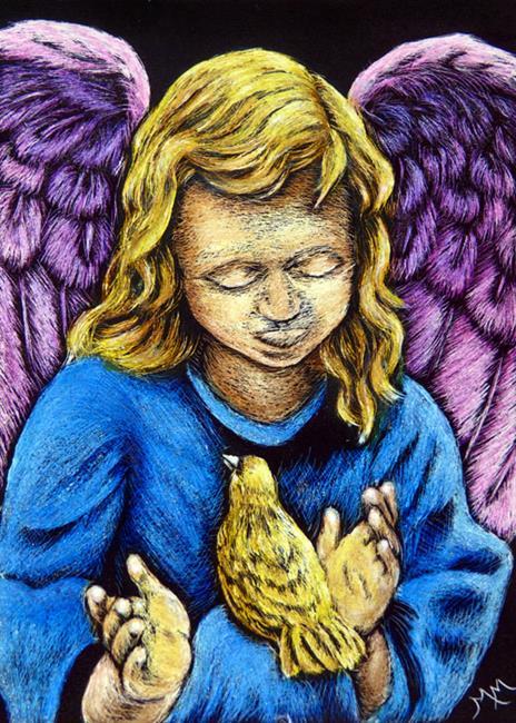 Art: Sweet Little Angel  (SOLD) by Artist Monique Morin Matson