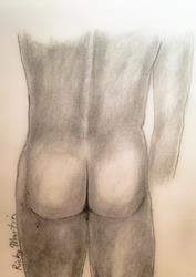 Art: Nude Male by Artist Ulrike 'Ricky' Martin