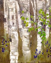 Art: Birch by Artist Alma Lee