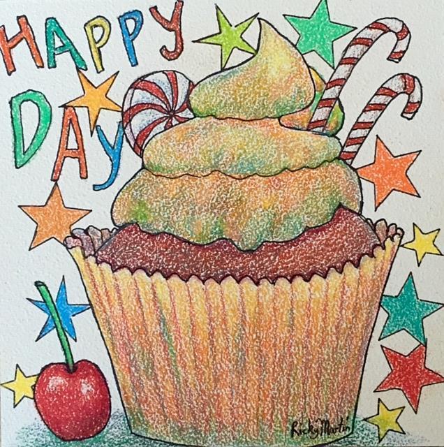 Art: Happy Day Cupcake by Artist Ulrike 'Ricky' Martin