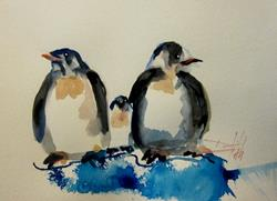 Art: Penguins by Delilah Smith