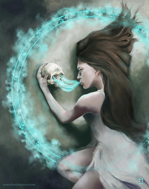 Art: The Bone Oracle by Artist Amanda Makepeace