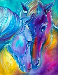 Art: COLOR my WORLD with HORSES ~ LOVING SPIRITS by Artist Marcia Baldwin
