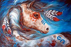 Art: INDIAN WAR HORSE ~ STAR by Artist Marcia Baldwin