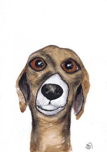Art: GREYHOUND g601 by Artist Dawn Barker