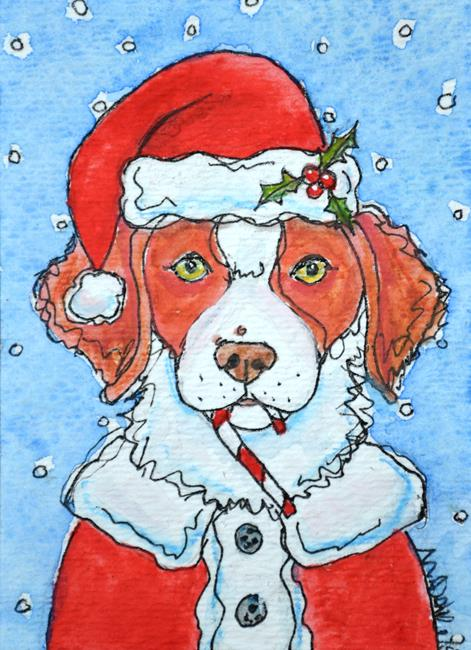 Art: Santa Brittany by Artist Melinda Dalke