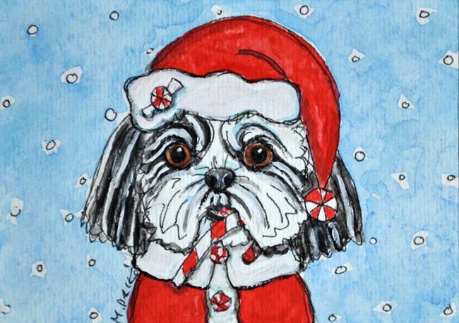 Art: Santa Tzu by Artist Melinda Dalke