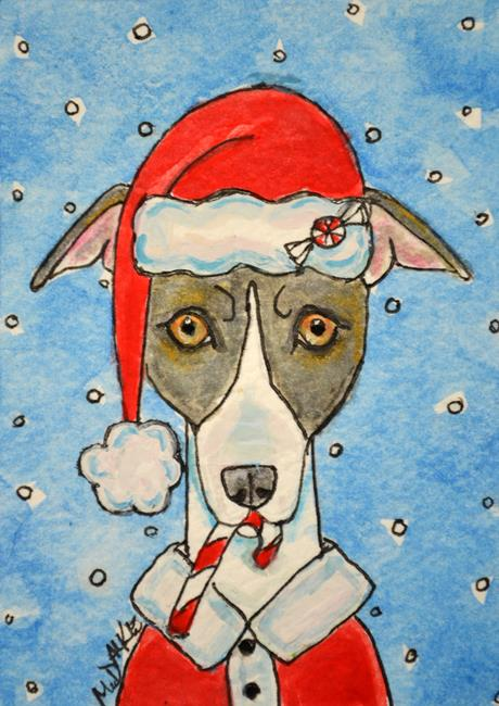 Art: Santa Grey by Artist Melinda Dalke