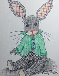 Art: Bunny Teddy by Artist Ulrike 'Ricky' Martin