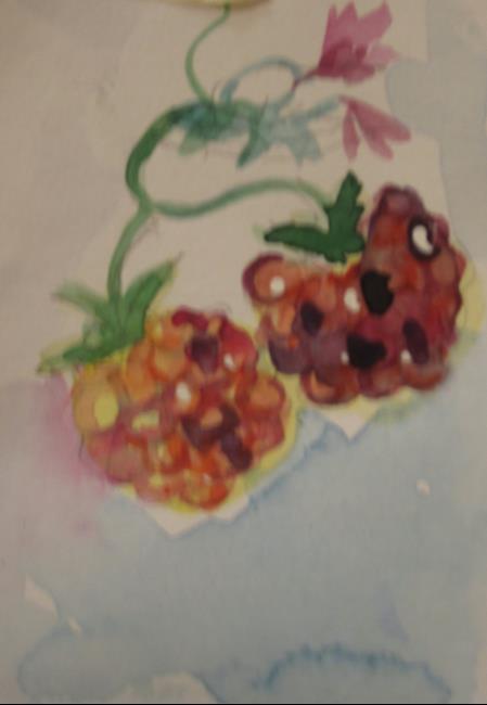 Art: Rasperries by Artist Delilah Smith