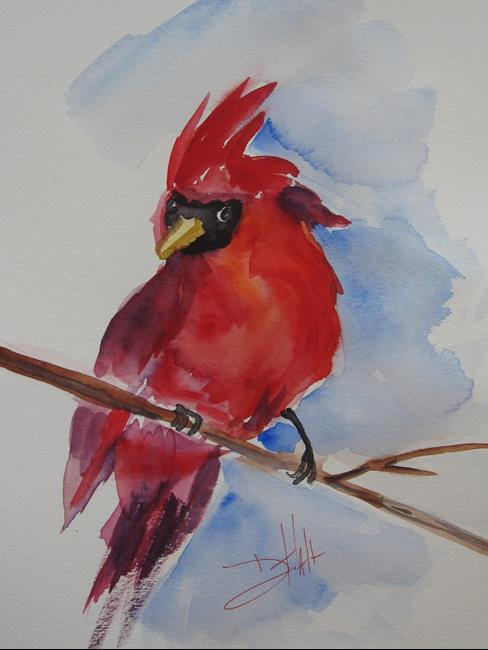 Art: Northern Cardinal by Artist Delilah Smith