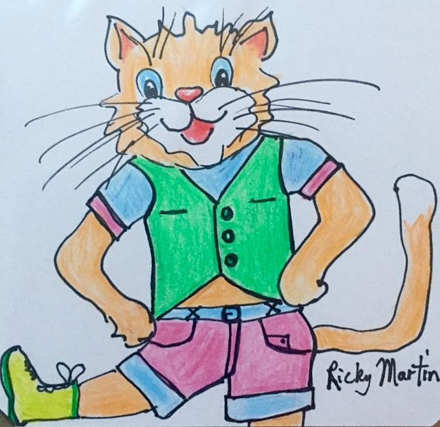 Art: Puss in Boots by Artist Ulrike 'Ricky' Martin