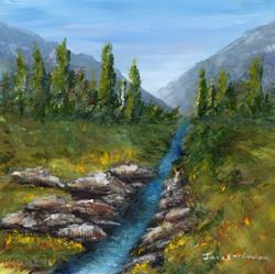 Art: Summer Stream by Artist Janet M Graham