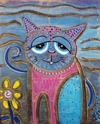 Art: Color Me Cat by Artist Laura Barbosa