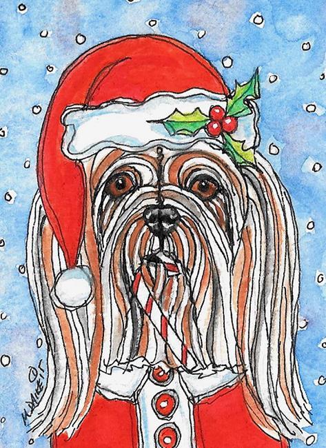 Art: Santa Apso 1 by Artist Melinda Dalke