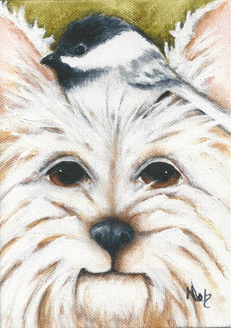 Art: My Little Chickadee by Artist Deb Harvey
