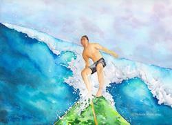 Art: Maui Chris by Artist Melanie Pruitt