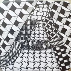 Art: Zentangle Inspired Letter by Artist Ulrike 'Ricky' Martin