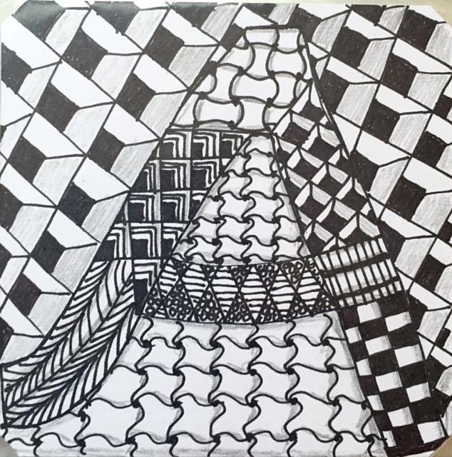 Art: Zentangle Inspired Letter by Artist Ulrike 'Ricky' Martin