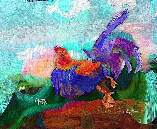 Art: Chicken Dance by Artist Alma Lee