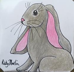Art: Baby Bunny by Artist Ulrike 'Ricky' Martin