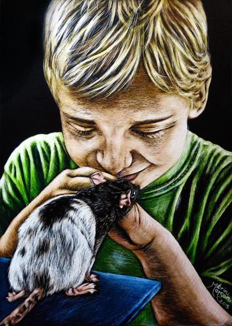 Art: Hello Friend  (SOLD) by Artist Monique Morin Matson