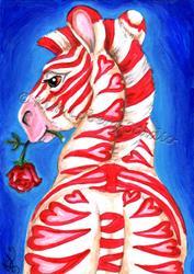 Art: Amour de Zebre (Zebra Love) by Artist Kim Loberg