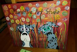 Art: Merle Girls by Artist Rachel Allen