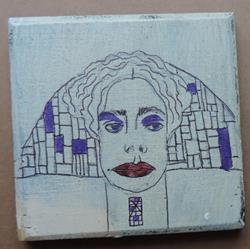 Art: head piece SOLD by Artist Nancy Denommee
