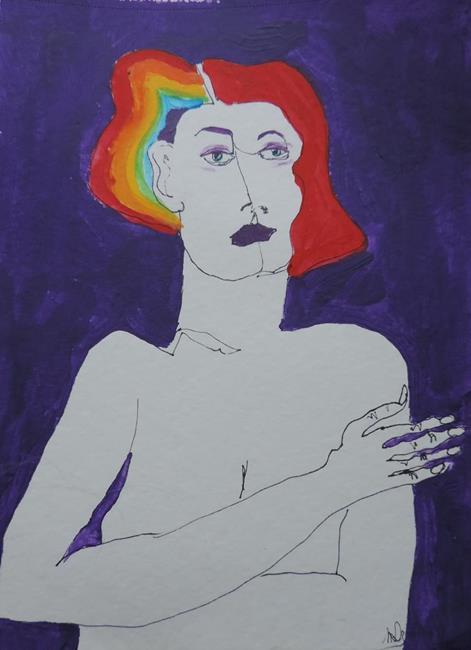 Art: she's a rainbow by Artist Nancy Denommee