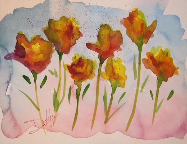Art: Happy Flowers by Artist Delilah Smith