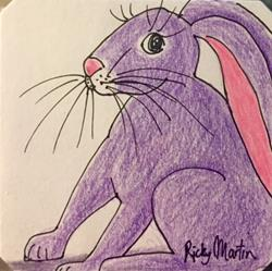 Art: Purple Bunny by Artist Ulrike 'Ricky' Martin
