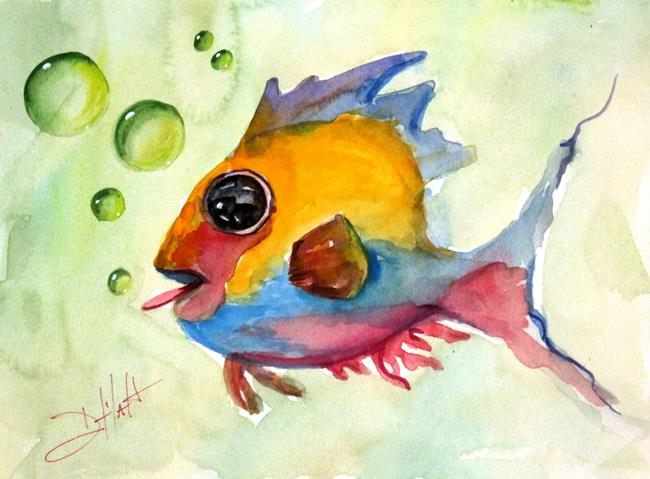 Art: Blowing Bubbles-sold by Artist Delilah Smith