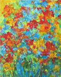 Art: Flower Bouquet Abstract  ( sold ) by Artist Ulrike 'Ricky' Martin