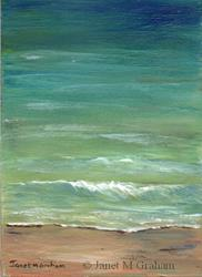 Art: Seascape 5 ACEO by Artist Janet M Graham
