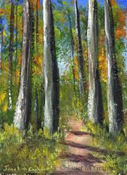 Art: Autumn Woods ACEO by Artist Janet M Graham