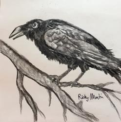 Art: Raven by Artist Ulrike 'Ricky' Martin