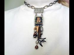 Art: Mona Lisa Necklace.jpg by Artist Vicky Helms