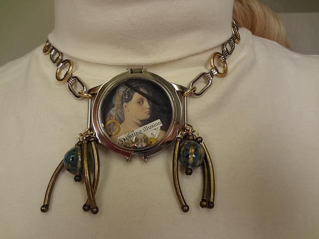Art: Haunting Illusions Necklace by Artist Vicky Helms